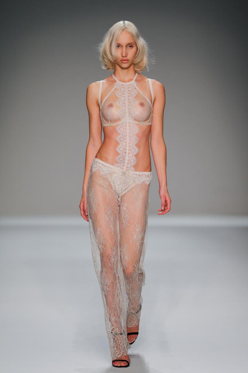 Catwalk fashion lingerie nudity