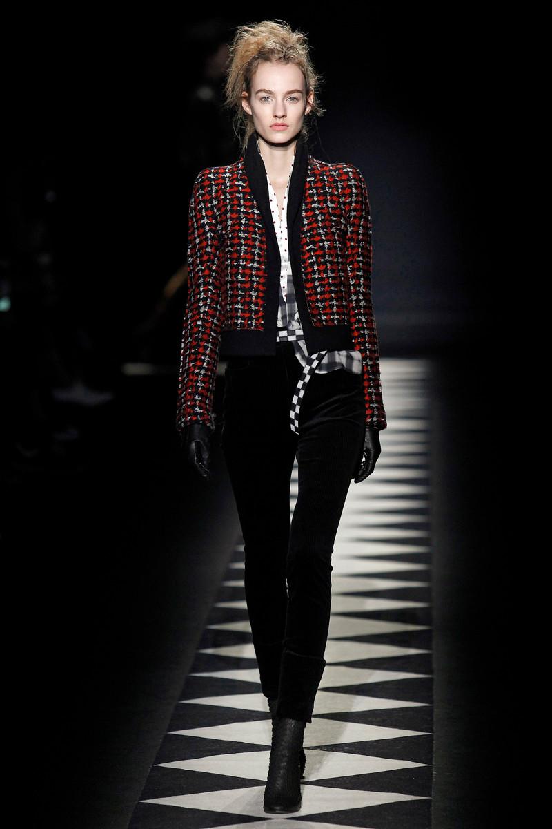 Catwalk Tweed Haider Ackermann Catwalk Fashion Show Paris Fw