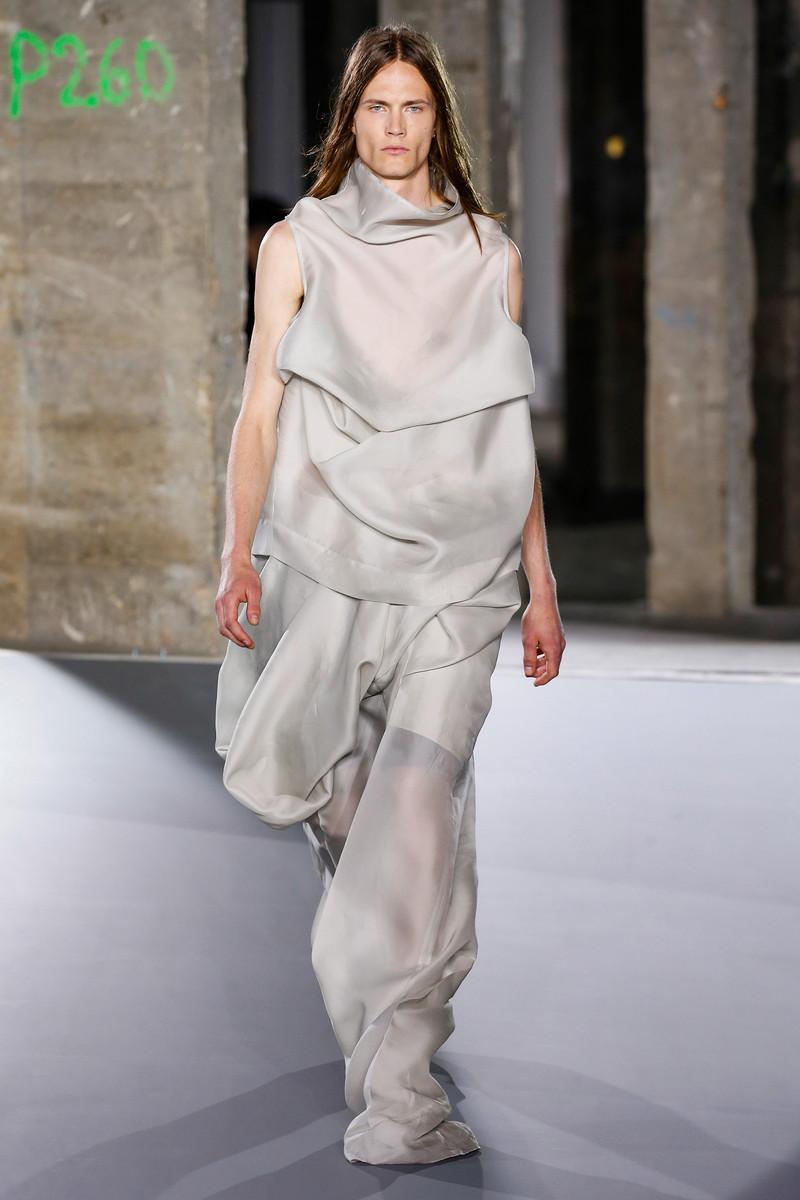 Rick Owens Catwalk Fashion Show Paris Menswear SS2017