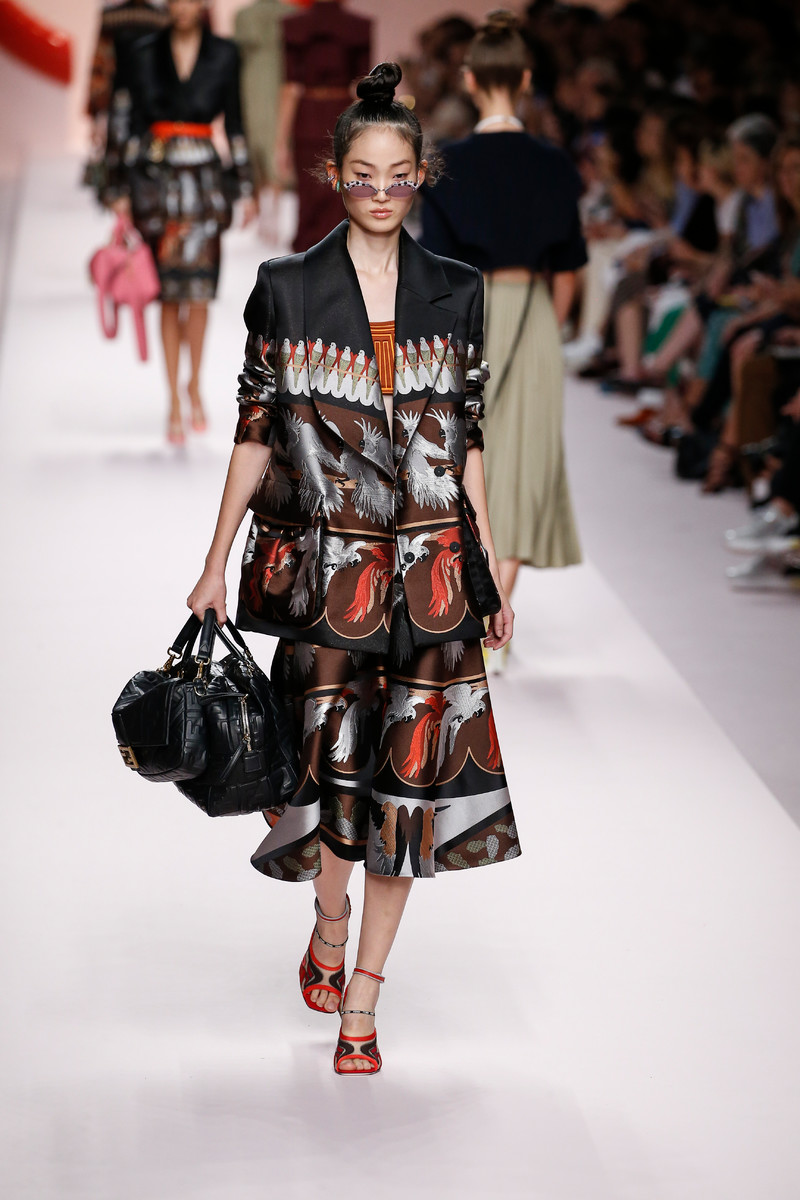 Fendi Catwalk Fashion Show Milan Womenswear SS2019