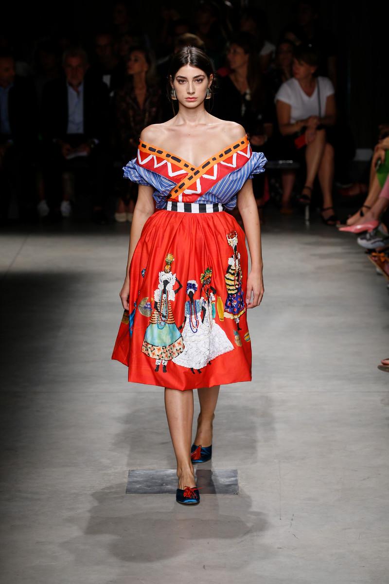 Stella Jean Catwalk Fashion Show Milan Womenswear SS2019